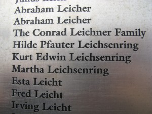 Ellis Island - Wall of Leichsenring