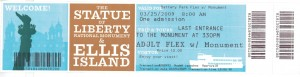 Ellis Island Ticket